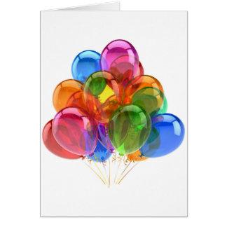 Bunte Ballons Karte