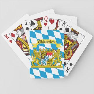 Bunte bayerische Flagge Oktoberfest Spielkarten