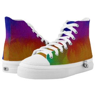 Bunte Beschaffenheit Hoch-geschnittene Sneaker