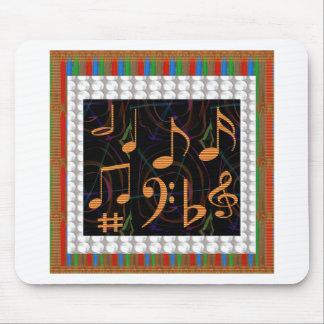Bunte Blatt-Musik-Symbol-Liebe der Herz-n Romance Mousepads