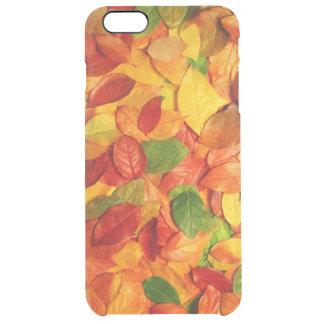 bunte Blättervektorkunst Durchsichtige iPhone 6 Plus Hülle
