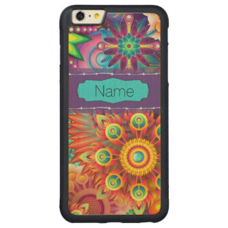Bunte Blumen Carved® Maple iPhone 6 Plus Bumper Hülle