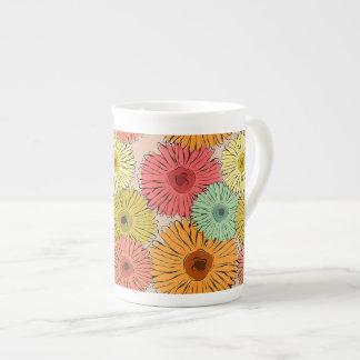 Bunte Blumen-Tasse Porzellan-Tasse