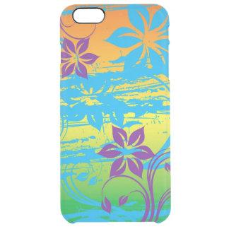 bunte Blumenstrudel-vektorkunst Durchsichtige iPhone 6 Plus Hülle