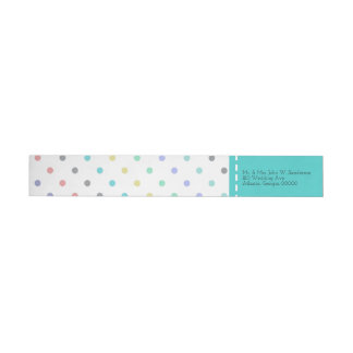 Bunte Confetti-Tupfen-Hochzeits-Adressen-Etiketten