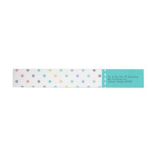 Bunte Confetti-Tupfen-Hochzeits-Adressen-Etiketten Rundum Rückversand Adress Aufkleber