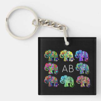 Bunte dekorative Elefanten des eleganten Schlüsselanhänger