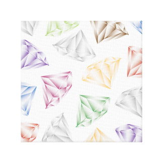 Bunte Diamanten für meinen Schatz Galerie Falt Leinwand
