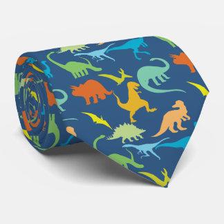 Bunte Dinosaurier Bedruckte Krawatte