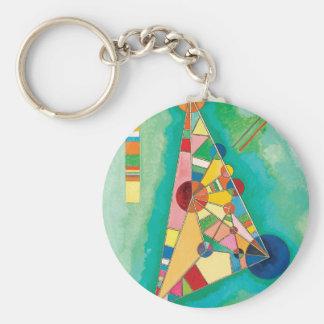 Bunte Dreiecke durch Wassily Kandinsky Standard Runder Schlüsselanhänger