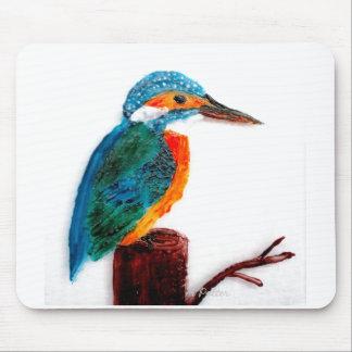 Bunte Eisvogel-Kunst Mauspads