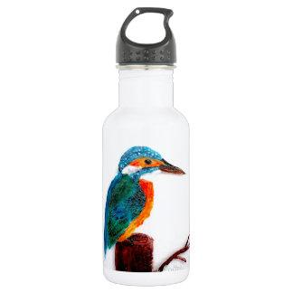 Bunte Eisvogel-Vogel-Kunst Edelstahlflasche