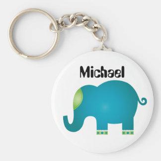 bunte Elefanten Schlüsselanhänger