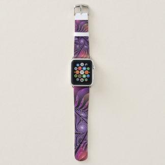 Bunte Fantasie-abstraktes modernes lila Fraktal Apple Watch Armband