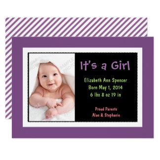 Bunte Foto-Geburts-Mitteilung 12,7 X 17,8 Cm Einladungskarte