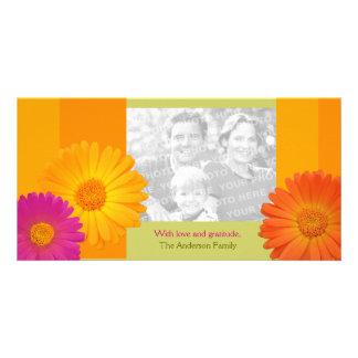 Bunte Gänseblümchen-Blumen-personalisierte Familie Karte