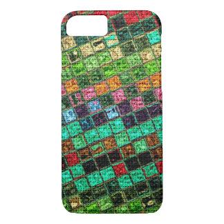 Bunte geometrische Leinwand rustikales #15 iPhone 8/7 Hülle