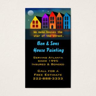 Bunte Haus-Visitenkarte Visitenkarten