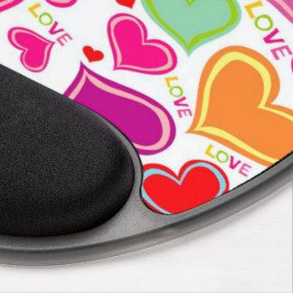 bunte Herzen Gel Mouse Matten