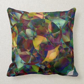 Bunte, kaleidoskopische abstrakte Kunst Kissen