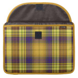 Bunte karierte MacBook Prohülse Madras Sleeves Für MacBooks