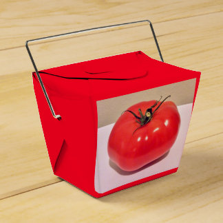 Bunte karminrote Tomate 4Clara Geschenkschachtel