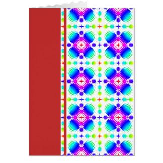 Bunte Kräuselungs-kleines transparentes Grußkarte
