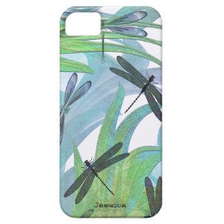 Bunte Libellen-abstrakte Gewohnheit Etui Fürs iPhone 5