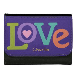Bunte Liebe-Namegeldbörsen