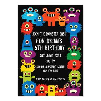 Bunte Monster-Kindergeburtstag-Party Einladungen
