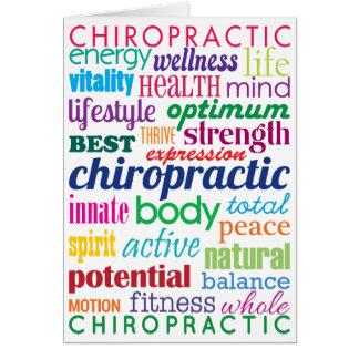 Bunte motivierend Wort-Collagen-Chiropraktik Karte