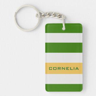 Bunte mutige grüne Streifen mit individuellem Schlüsselanhänger