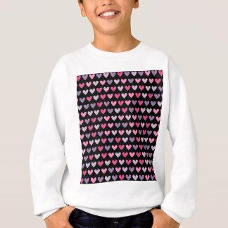 Bunte niedliche Herzen Sweatshirt