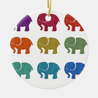 Bunte niedliche trendy girly Elefanten Keramik Ornament