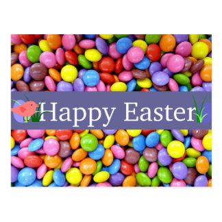 Bunte Ostern-Süßigkeiten Postkarten