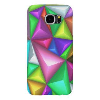 bunte polygonale Hüllen Samsung S6 des