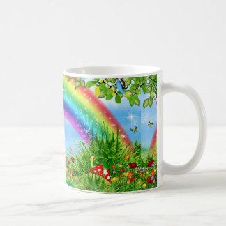 bunte Regenbogenwissenschaftsprodukte Tasse