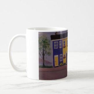 Bunte Reihen-Häuser Tasse