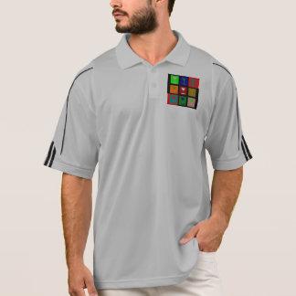 Bunte Retro Cocktailgläser Polo Shirt