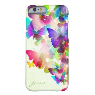 bunte Schmetterlinge des abstrakten Frühlinges mit Barely There iPhone 6 Hülle