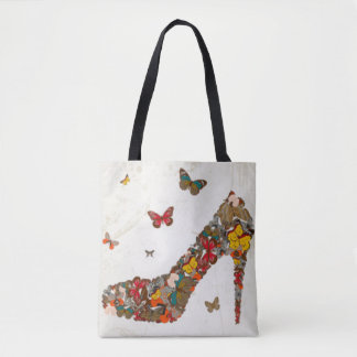 Bunte Schmetterlings-hoher Heels