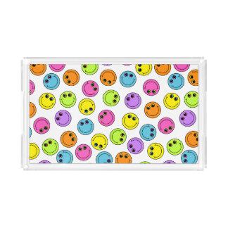 Bunte Smiley Acryl Tablett
