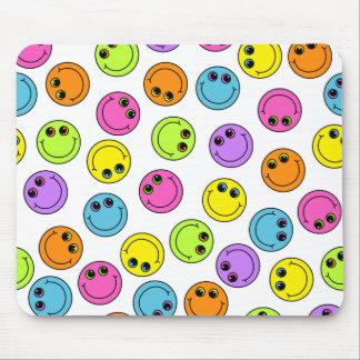 Bunte Smiley Mousepad