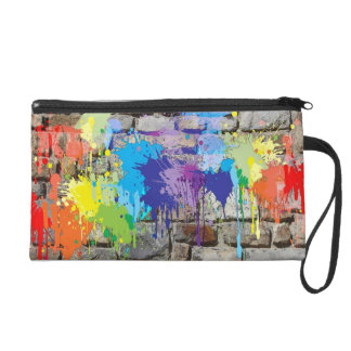 Bunte Straßenkunst WandGraffiti-Regenbogen-Tasche
