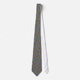 Bunte Süßigkeit besprüht Druck Individuelle Krawatten