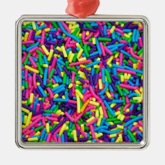 Bunte Süßigkeit besprüht Druck Weihnachtsornament
