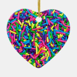 Bunte Süßigkeit besprüht Druck Weihnachtsbaum Ornamente