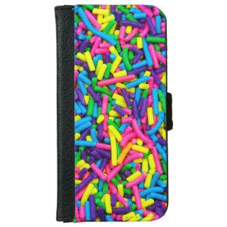 Bunte Süßigkeit besprüht iphone Geldbörsenkasten iPhone 6 Geldbeutel Hülle