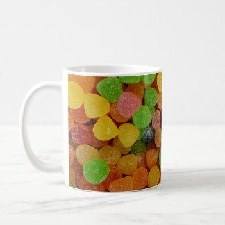 Bunte Süßigkeiten Tasse