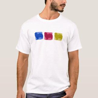 Bunte tibetanische Spaniel-Silhouetten T-Shirt